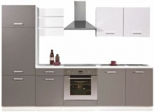 Kuchyňská linka SUPROMO 270 cm šedá/bílý mat