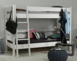 Etážová postel Sendy 90 x 200 cm bílá, výška 155 cm (300W+300W+301W)