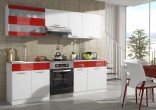 Kuchyňská linka CAMERON 180/240 cm bílá/červená
