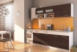 Kuchyňská linka NOMAD 200 cm wenge/bílá