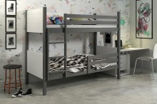 Patrová postel TONY grafit/bílá