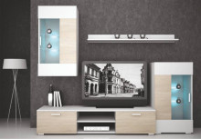 Obývací stěna CAPITOL sonoma/bílá