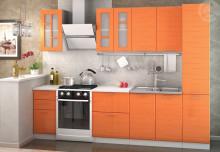 Kuchyňská linka TECHNO 220 cm oranžová metalic