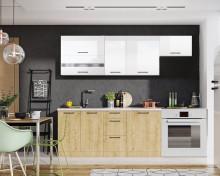 Kuchyňská linka KAYA 180/240 cm burlington/bílá lesk