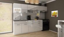 Kuchyňská linka SAMARA 180/240 cm bílý lesk