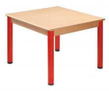 Čtvercový stůl 80 x 80 cm kovové nohy s rektifikační patkou U66.3hh