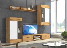 Obývací stěna TWINGO dub artisan/bílá