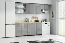 Kuchyňská linka VOLT 180/240 cm šedá lesk