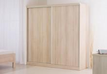 Šatní skříň LINE 250 cm s posuvnými dveřmi,  LK16