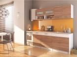 Kuchyňská linka Renoma 200 cm dub lanýž/bílá
