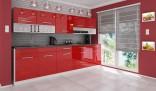 Kuchyňská linka DEVIL 260 cm červená