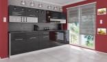 Kuchyňská linka DEVIL 260 cm černá