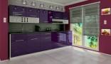 Kuchyňská linka DEVIL 260 cm fialová