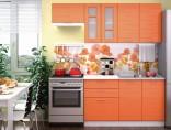 Kuchyňská linka TECHNO 140/200 cm oranžová metalic