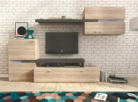 Obývací stěna JET sonoma/grafit