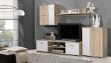 Obývací stěna PACO LUX sonoma/bílá