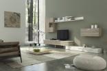 Obývací stěna AGNES trufla/bílá