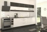 Kuchyňská linka MODO 260 cm carbon marine/bílý lesk