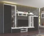 Obývací stěna ASTI černá/bílá