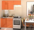 Kuchyňská linka TECHNO 100/160 cm oranžová metalic