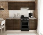 Kuchyňská linka LUIGI 120/180 cm wenge
