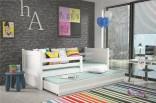 Dětská postel RIKY II 90x200 cm bílá