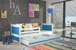 Dětská postel RIKY II 90x200 cm bílá/modrá