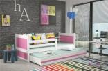 Dětská postel RIKY II 90x200 cm bílá/růžová