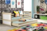 Dětská postel RIKY II 90x200 cm borovice/bílá