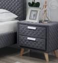 Noční stolek ASTRID šedý