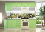 Kuchyňská linka VEGA 200/260 cm bílá/sv.zelený metalic