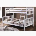 Patrová postel BAGIRA 90-140 x 200 cm bílá