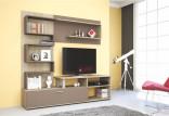 Obývací stěna ZIG ZAG sonoma/cappucino