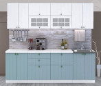 Kuchyňská linka PROVENCE 240 cm bílá/světle modrá