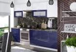 Kuchyňská linka VALERIA 200/260 cm modrá/bílý lesk