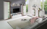 Obývací stěna PIASS bílá/ořech
