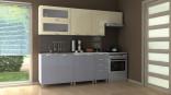 Kuchyňská linka NADINE 180/240 cm vanilka+šedá lesk/RLG