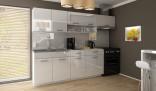 Kuchyňská linka DOLOMITI 180/240 cm bílý lesk