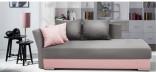 Pohovka CAPRI 90 x 200 cm růžová/šedá
