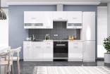 Kuchyňská linka SERGIO 180/240 bílá/bílý lesk
