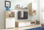 Obývací stěna FOLK dub sonoma/bílá