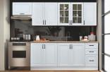Kuchyňská linka PARIS 200/260 cm bílá/bílý lesk