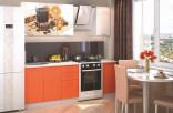 Kuchyňská linka VALERIA ART 160 cm orange