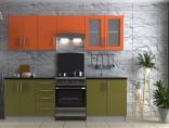 Kuchyňská linka ELITE 180/240 cm olive/orange