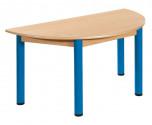 Půlkulatý stůl 120 x 60 cm kovové nohy s rektifikační patkou U66.6hh