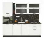 Kuchyňská linka GLACIER 235 cm wenge/island
