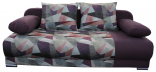 Pohovka LEXUS HOLM fialová/vzor