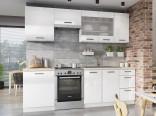 Kuchyňská linka BURNS 180/240 cm bílá akryl