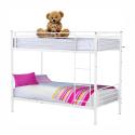 Kovová patrová postel JAMILA 90x200 cm bílá