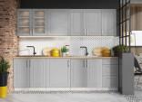 Kuchyňská linka FARLEY 260 cm šedá mat
